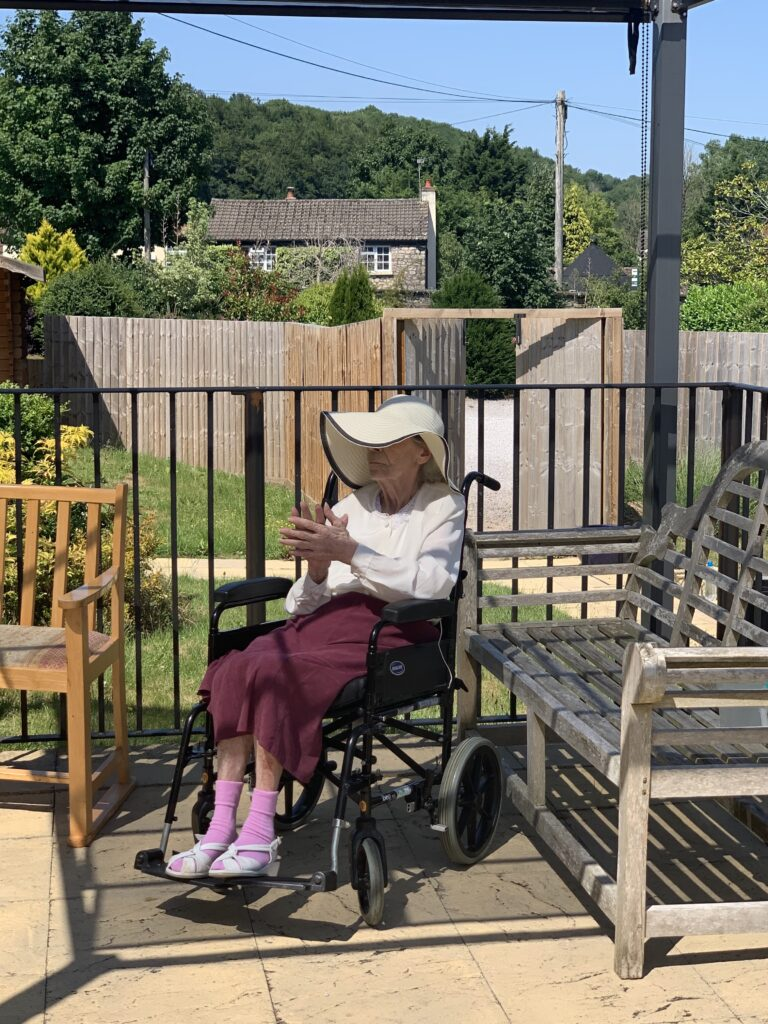 Residents  at the Crick Nursing Home in Caldicot