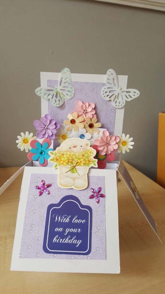 Lovely hand made cards being sent home from the residents of Crick Nursing Home in Caldicot