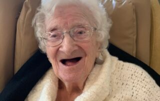 Lady at Crick Care Home in Caldicott