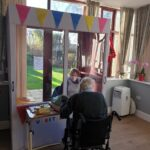 Visitor Booth at Firs Nursing Home in Taunton