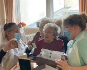 Happy Birthdays at Crick Care home in South Wales