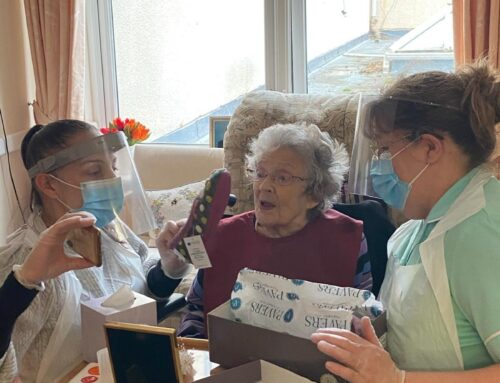 January at Crick Nursing home in Caldicot, in Monmouthshire