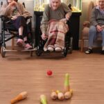 Indoor skittles Valentines Crafts The Firs Care Home in Taunton, the heart of Somerset