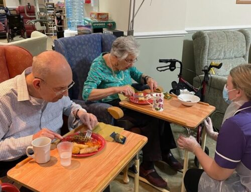 February at Crick Nursing Home in Caldicot.