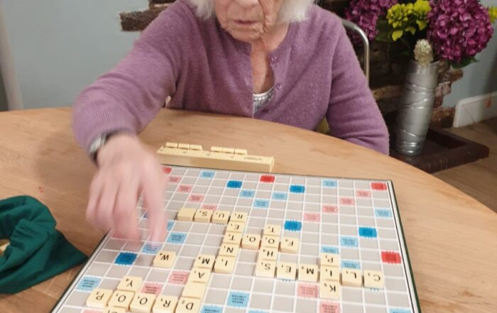 Scrabble at The Firs Residential Nursing Home in Taunton