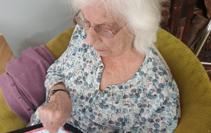 ipad fun at The Firs Nursing and Care Home in Taunton