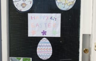 Easter greetings at The Firs Nursing and Care Home in Taunton