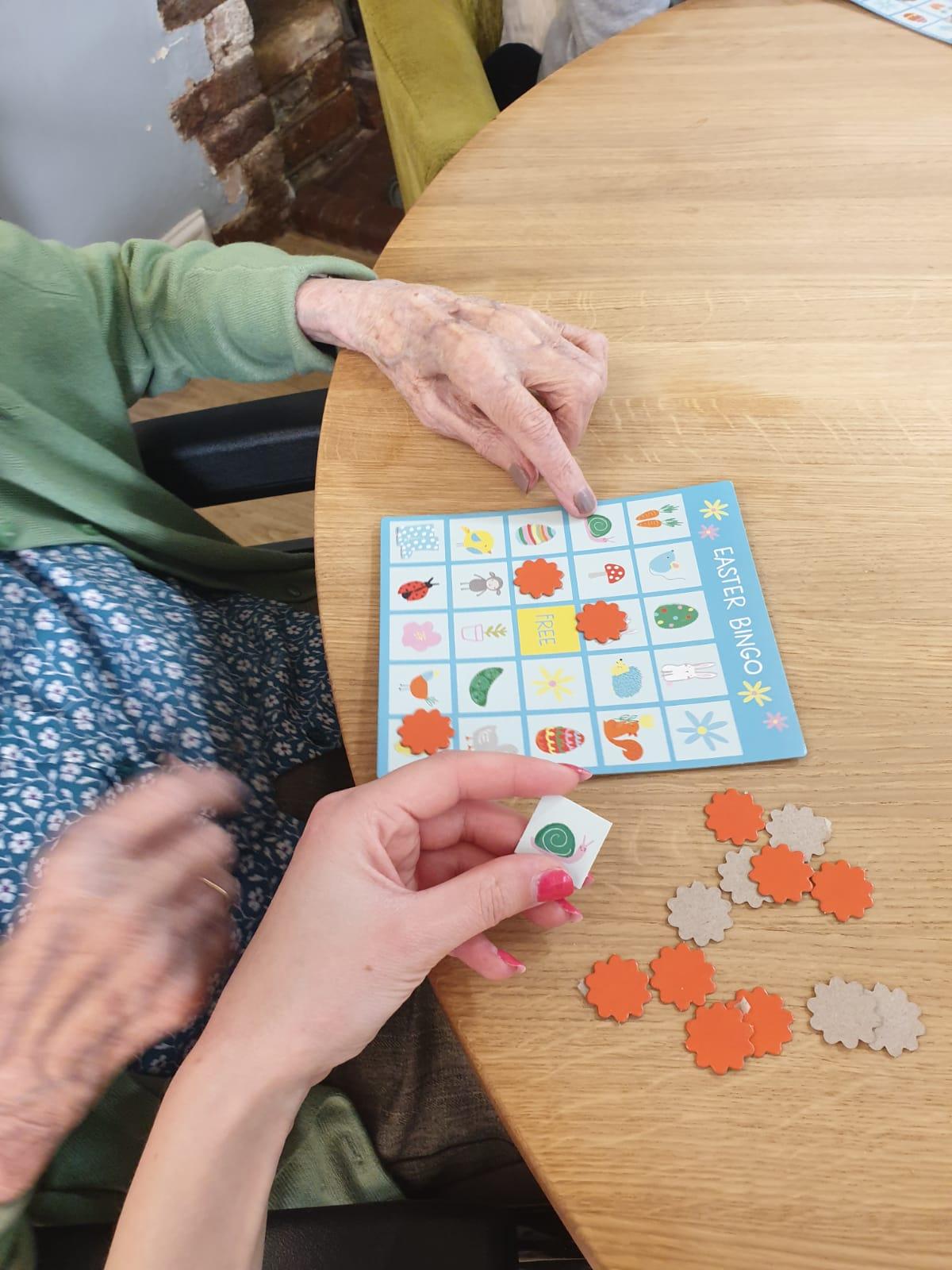 Bingo at The Firs Nursing home in Taunton
