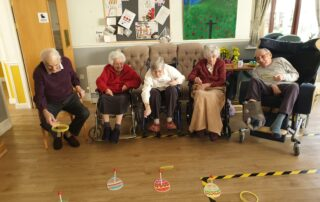 Hoop the Egg at The Firs Nursing Home
