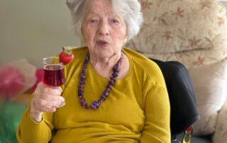 A glass to celebrate at Crick Nursing Home