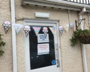 Pretty Summer Ice cream bunting at The Firs in Taunton