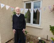 Pretty Summer bunting at The Firs Nursing Home in Taunton